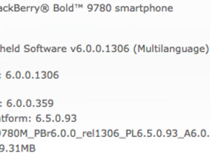 Official OS 6.0.0.359 for the BlackBerry Bold 9780 from AVEA