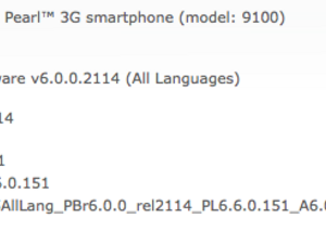 Official OS 6.0.0.481 for the Pearl 3G from Telus Mobility