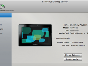 BlackBerry Desktop Manager for Mac updated in Beta Zone - Brings BlackBerry PlayBook media import and sync