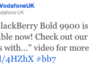 BlackBerry Bold 9900 now available from Vodafone UK