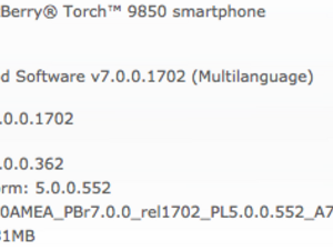 Official OS 7.0.0.362 for the BlackBerry Torch 9850 and Bold 9930 now available from PTCI