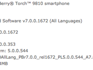 Official OS 7.0.0.353 for the BlackBerry Torch 9810 from O2