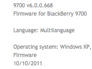 Official OS 6.0.0.668 for the BlackBerry Bold 9780 and Bold 9700 from Swisscom