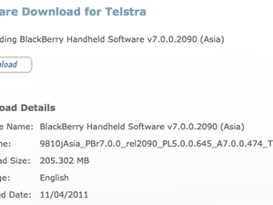 Official OS 7.0.0.474 for the BlackBerry Torch 9810 from Telstra