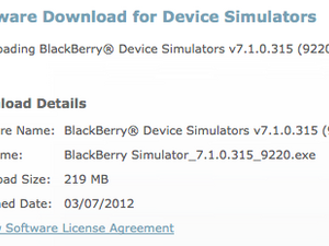 BlackBerry Curve 9220 simulator now available