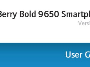 Leaked 9650 OS Shows BlackBerry Bold 9650 User Guide