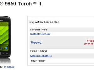 BlackBerry Torch 9850 lands at Alltel