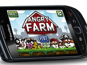 Angry Farm game for BlackBerry now available - 50 copies to be won!