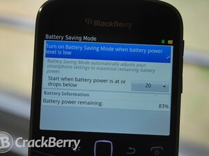 How to use Battery Saving Mode on your BlackBerry Smartphone