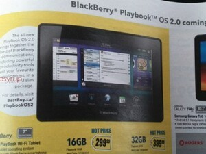 Best Buy ad shows off BlackBerry PlayBook OS 2.0 as coming soon