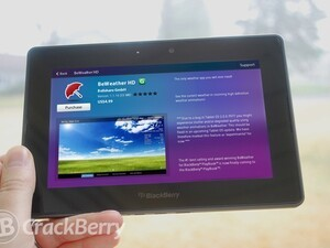 BeWeather HD now available for the BlackBerry PlayBook