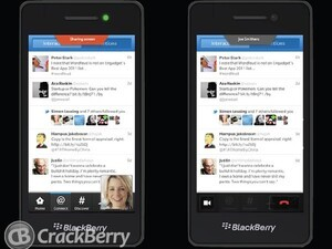 Hot: Leaked Screen Caps Point to Screen Sharing on BlackBerry 10!