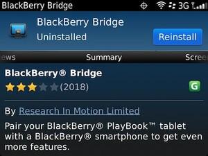 BlackBerry Bridge updated to version 1.0.7.5