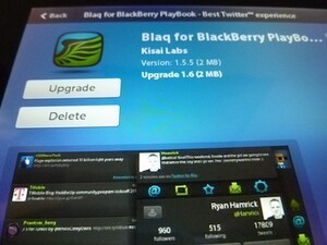 Blaq for BlackBerry PlayBook updated to v1.6
