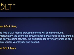 Third-party BlackBerry browser BOLT discontinued