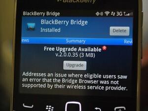 BlackBerry Bridge 2.0.0.35 now available