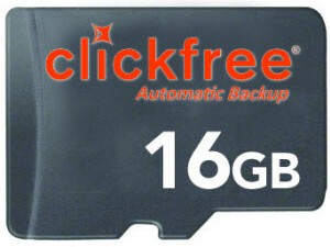 Clickfree SD Card Lets You Backup Your PC/Mac Through Your BlackBerry Smartphone