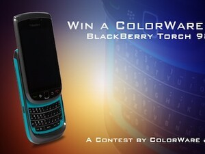 We have a winner! And the custom-painted ColorWare BlackBerry Torch goes to...
