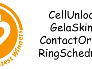 Contest Winners: Cellunlock, GelaSkins, ContactOrder and RingScheduler