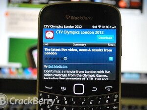 CTV Olympics London 2012 app for BlackBerry now available