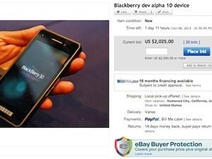 Another BlackBerry 10 Dev Alpha lands on eBay