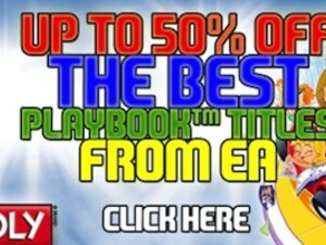 Save 50% on these best-selling PlayBook titles from EA