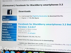 Facebook for BlackBerry smartphones 3.2.0.7 now available in the BlackBerry Beta Zone