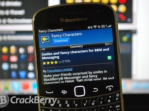 Fancy Characters v5 for BlackBerry now available
