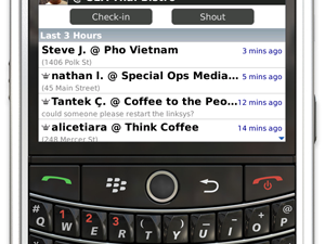 Foursquare for BlackBerry updated - Now with photos