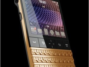 Have $8k to spare? Check out this 24ct Gold Plated BlackBerry Porsche Design P'9981