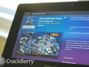 Great Little War Game comes to the BlackBerry PlayBook