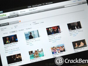 Watch Hulu videos on your BlackBerry PlayBook with luhu