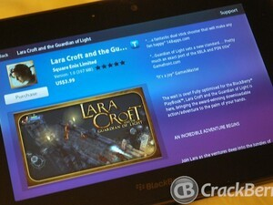 Lara Croft and the Guardian of Light now available for the BlackBerry PlayBook