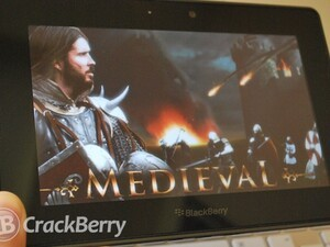 Be a knight in shining armor in Medieval for the BlackBerry PlayBook
