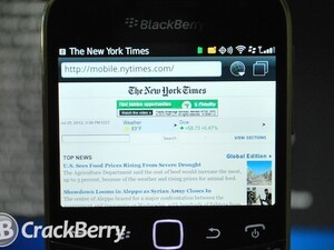 New York Times discontinues BlackBerry app