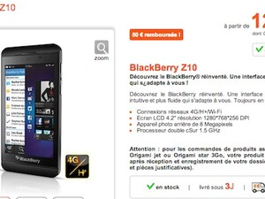 BlackBerry Z10 now available in France