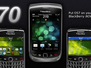 Put some OS 7 on your BlackBerry with 70 by AG Designs & Graphics - 35 copies up for grabs!