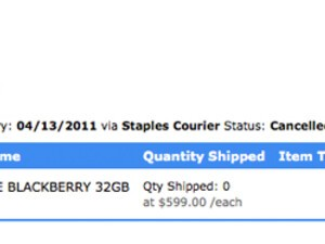 BlackBerry PlayBook order showing as cancelled at Staples? You're not alone