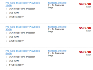 Pre-order the BlackBerry PlayBook from Staples