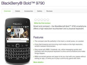 BlackBerry Bold 9790 now available from Telus, Bell and Virgin Mobile