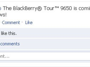 """Research in Motion Teases """"The BlackBerry Tour 9650 is Coming"""" on Facebook"""
