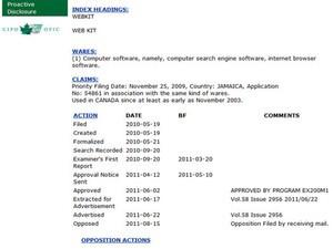 "CIPOh oh! RIM says no to Apple's ""WebKit"" trademark filing"