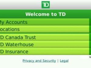 TD banking app gets deposited into BlackBerry App World