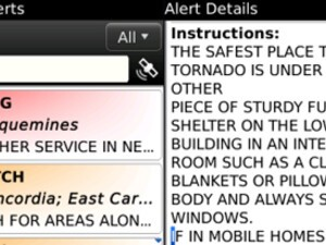 Active Alerts - an early warning application