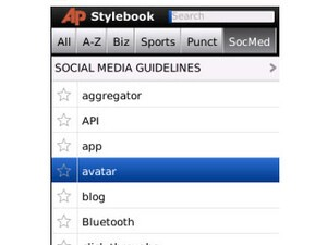 Has your inkwell run dry? The AP Stylebook for BlackBerry gives you a refill