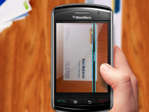 Business Card Reader for BlackBerry Smartphones