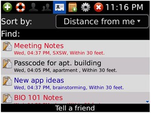 DulyNoted Pro for BlackBerry