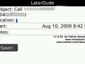 Review - LaterDude & LaterDude Pro for BlackBerry