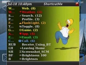 WooHoo! ShortcutMe 4.1 ready for the BlackBerry Tour 9630 and Bold 9650