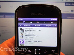 Amazing video sharing app Snipper for BlackBerry reviewed